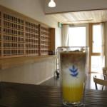 入り口がコーヒー 出口がオレンジ