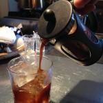 フレンチプレスでアイスコーヒーを作ったところ、こうなった。