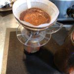エスプレッソの超極細挽きの粉をペーパードリップした結果